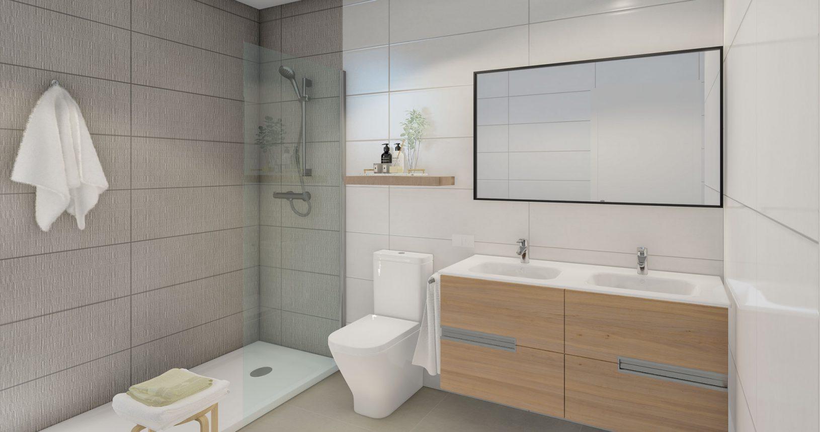 Cuarto de baño promoción de viviendas Bilbao