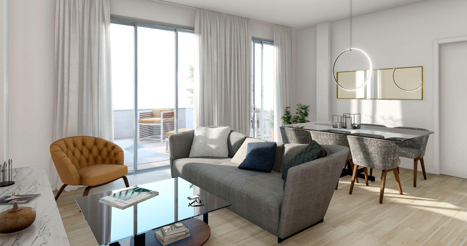 Salón de promociones de viviendas por Inmobiliaria Ciencasas