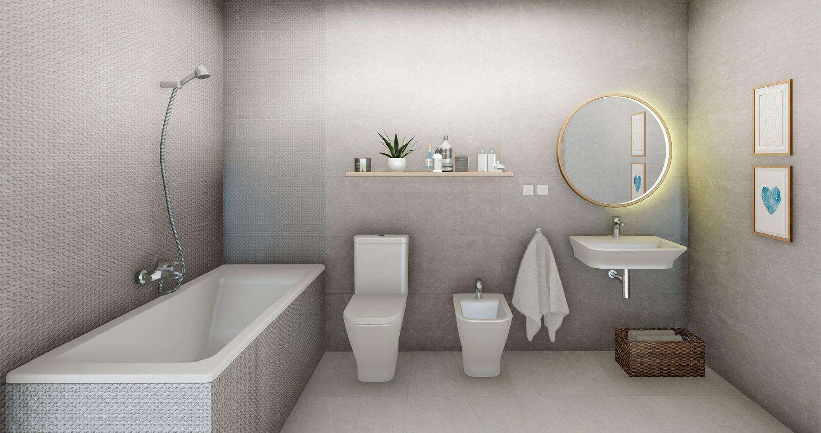 Baño de viviendas de obra nueva en Picanya