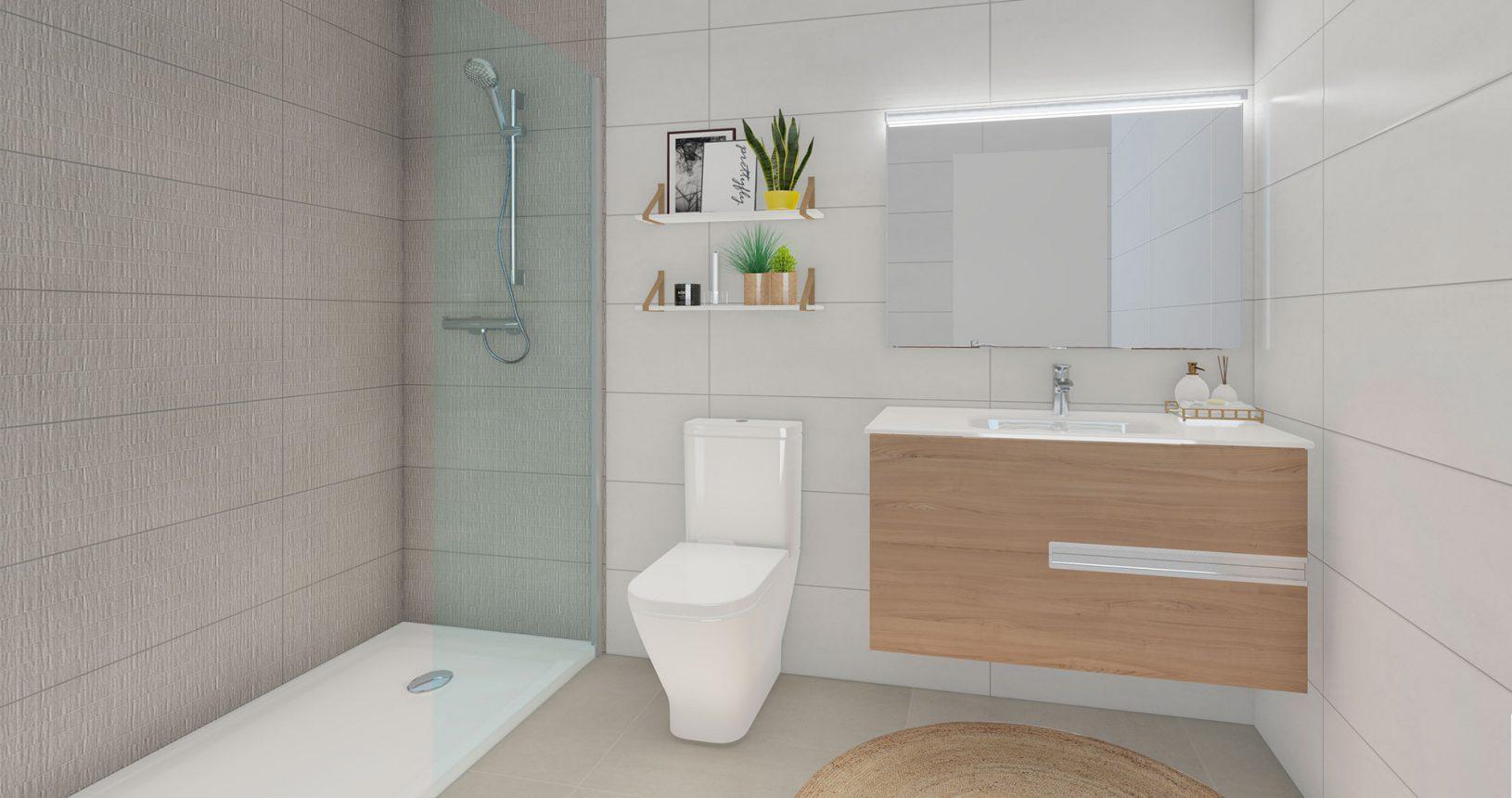 Promoción Paramera Inmobiliaria Ciencasas Paiporta baño principal