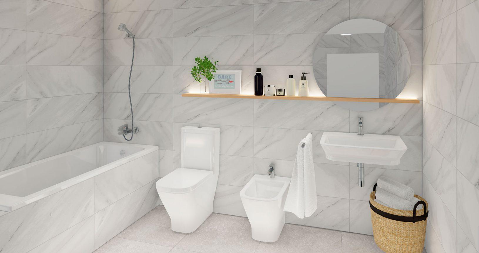 Promoción Paramera Inmobiliaria Ciencasas Paiporta baño secundario